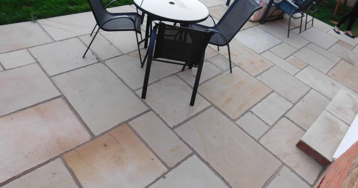 Mint Fossil Shotblasted Paving