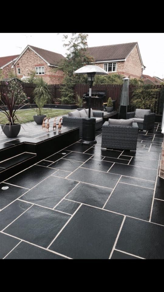 Kota Black Limestone Paving Rf Landscape Products