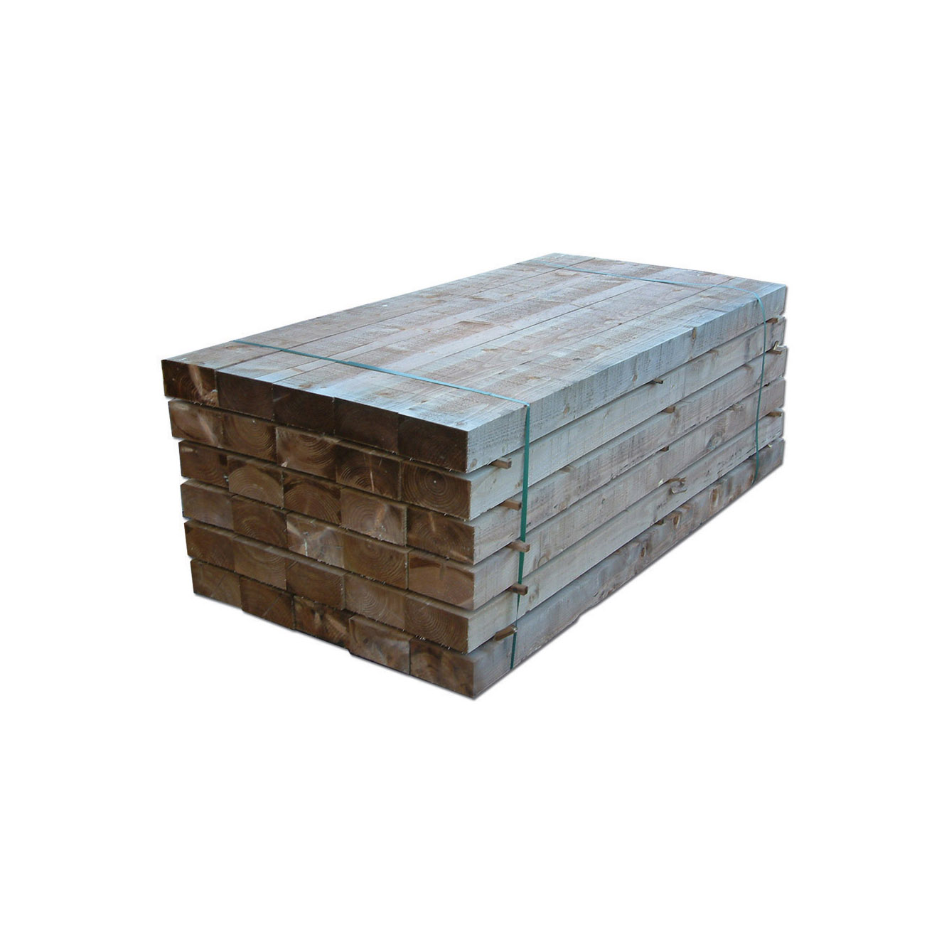 Brown Tanalised Softwood Sleepers Rf Landscape Products