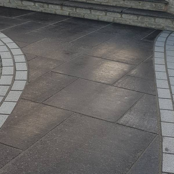 Flamed Silver Grey Granite Cobbles Rf Landscape Products