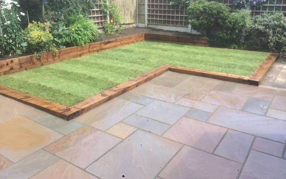 Autumn Brown Natural Sandstone Paving