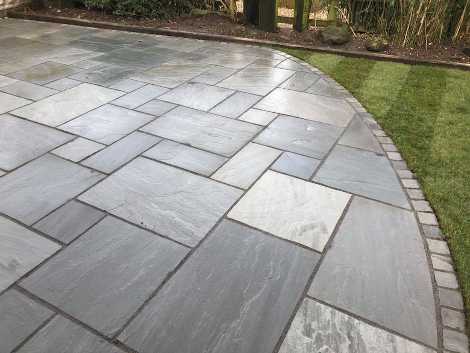 Kandla Grey Sandstone Paving Rf Landscape Products